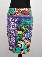 Blumarine Skirt I42 D36 - US 6 Above Knee Pencil Italian Colorful Prints Purple
