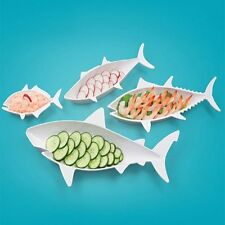 Fish Food Plates By Fred - Set Of Four Nesting Fishies - Tiki Bar Beach Seafood