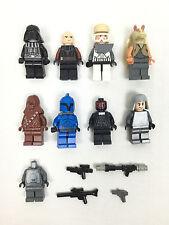 Figurine Lego Star Wars Lot Yoda Obi Wan Dark Vador Anakin Darth Maul Chewbacca
