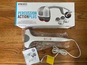 Homedics Percussion Action Plus Handheld Massager w/ Heat Electric Pain Relief