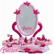 Barbie Beauty Centre Girls Dressing Table Mirror Hair Accessories Cosmetics New