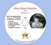"DVD ""His Wonderful Chance""(1920) Eugene O'Brien, Rudolph Valentino,Classic Drama"