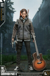 """CCTOYS 1:6 The Last of Us 2 Elli 12""""Female Figure CollectIble w/Two Heads"""