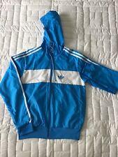 Adidas Turquise/White Hooded Shell Jacket Size S (10-12)