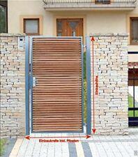 Pforte Holz Gartentor Grau Hoftor Einfahrtstor Tür Tor Törchen 125cm x 180cm