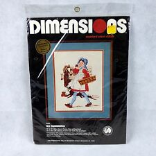 1982 Dimensions NO SWIMMING Counted Cross Stitch Kit New Norman Rockwell 3503