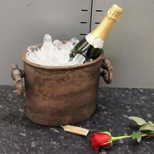 Vintage Champagne Bucket Copper Oval Cooler Traditional Ice Hotel Heavy Weight