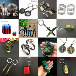 PUBG Knives Out Pan Helmet Weapon Gun Model KeyChain Ring Necklace Pendant Gift