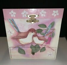 Enchantmints Sweet Fairy Wrens Musical Jewelry Box w Dancing Fairy & 4 Drawers