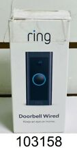 Ring - Wi-Fi Video Doorbell - Wired - Black - New Open Box