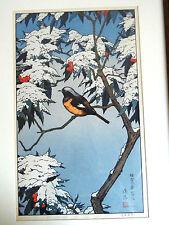 Madera coloreada cortes Big Woodcuts Toshi Yoshida 50 x 31 cm de invierno