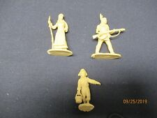 Barzso: Daniel Boone Character Figures Rebecca, Israel and Mingo in Cream Color