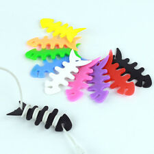 10X Silicon FishBone Headphone Cord Wire Cable Organizer Holder Wrap Winder