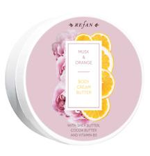 REFAN Body Cream Butter Musk & Orange Shea Cocoa Vitamin B3 Natural 200 ml