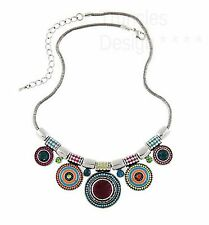 Choker rhinestone necklace - Ethnic fashion bead design Jewellery Jewelry NEW