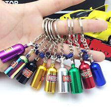 Mini Car NOS Turbo Bottle Keyfob Key Ring Holder Car Keychain Pendant Random