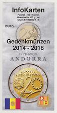 2 Euro Gedenkmünzen ANDORRA bis 2018 - Flyer InfoKarten - 9 Motive + 1