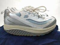 Skechers Shape Ups 11803 Walking Toning Women's Shoes Size 6.5 White Blue Silver