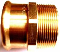 """Pegler Yorkshire Xpress Straight Male Connector Press Fit BSP 54mm 2"""" 38121"""