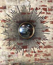 Glace / miroir soleil aiguilles noire et miroir oeil de sorcière Diam 93 cm