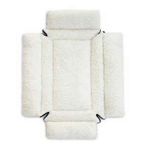 K&H Pet Products Deluxe Bolster Dog Crate Pad SM Natural