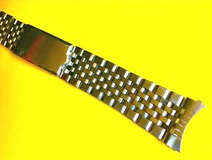 Vintage 1960s Style Jubilee Stainless Watch Bracelet Strap Band NOS (18MM)