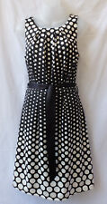 Target Size 8 Dress NEW Polka Dot Black White Corporate Work Smart Casual Travel