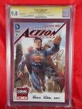 DC Comics Superman Action Comics #19 SS CGC 9.8 Signed Daniel, Diggle & Banning