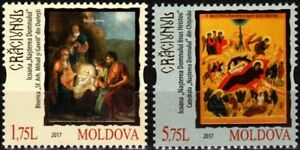 MOLDOVA 2017 Christmas. Religion Art Icons, MNH