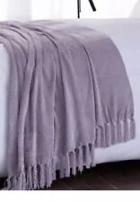 Charlotte Thomas Luxury Chenille Throw in Lilac