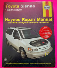 Haynes Repair Manual Toyota Sienna 1998 Thru 2010 #92090 does not cover AWD