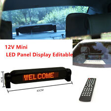 Car Dash Scrolling LED Panel Display Editable Advertise Window Sign w/Controller