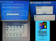 Microsoft Windows 3.11 for Workgroups on 8x Floppy Disks (1.44 MB) Free Shipping