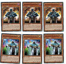 3 X Erfahrener Dunkler Magier YGLD-DEC19 & 3 X Erfahrener Weißer Magier, Playset