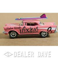 Dealer Dave 1957 CHEVY BEL AIR HARD TOP, 1:64 DIECAST, JOHNNY LIGHTNING SURF ROD