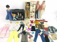 Vintage 1960's Vintage Brunette Ponytail Barbie w/ 1960 Brunette Bubble cut Lot