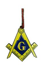 Mason Masons Masonic Live Better Enamel Metal Pendant Christmas Ornament Gift