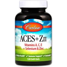 NEW CARLSON LABS ACES + ZN VITAMINS A C E SELENIUM & ZINC DIETARY SUPPLEMENT
