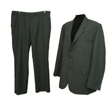 C&A Suit Chest 46in W40in L31in Grey Wool Blend Formal Office Interview Races