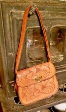 Vintage Leather Hand Tooled Leather Purse Handbag