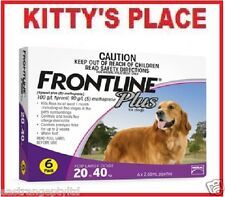 Frontline Plus Flea & Tick Treatment For Dogs LARGE 20 - 40kg   6 Pack