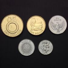 [S-2] Solomon Islands Set 5 Coins, 10+20+50 Cents + 1+2 Dollars, 2012, Unc