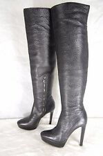 SUPER SEXY !!! BURBERRY HI HEEL PLATFORM LEATHER OVER THE KNEE BOOTS EU 37 US 7