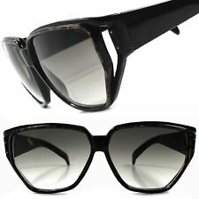 Black Classic True Vintage 70s 80s Hip Hop Swag Square Funky Sun Glasses