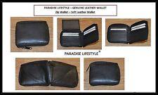 Mens Womens Black Wallets Leather Pocket Zip Purses Handbags Card Holder Pouch