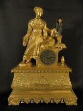 Antique Fine Gilt Bronze ORIENTAL Clock with Lady ca 1840