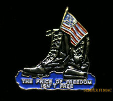 USA FLAG FREEDOM ISN'T FREE HAT PIN US ARMY MARINES NAVY AIR FORCE MEMORIAL GIFT