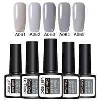 LEMOOC 5 Bottles 8ml Nagel Gellack Soak off Nail Art UV Gel Polish Grau Kit