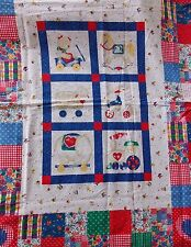 WtW Fabric Springs Mitchell Panel Cheater Animal Novelty Kid Child Vintage Quilt