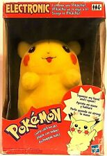VINTAGE HASBRO POKEMON ELECTRONIC PIKACHU PLUSH DOLL BATTERY OPERATED NEW IN BOX
